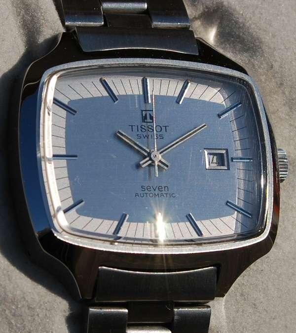 Orologio automatic tissot seven tv grandi dimensioni con for Orologi grandi dimensioni