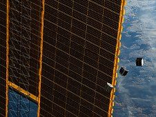 Several tiny satellites are featured in<br /> this image taken by an Expedition 33 crew<br /> member. The satellites were released on<br /> Oct. 4 outside the Kibo laboratory using a<br /> Small Satellite Orbital Deployer attached<br /> to the Japanese module&#39;s robotic arm. (NASA)&nbsp;&nbsp;<br /> <a href='http://www.nasa.gov/images/content/715973main_Image3a_XL.jpg' class='bbc_url' title='External link' rel='nofollow external'>View large image</a>