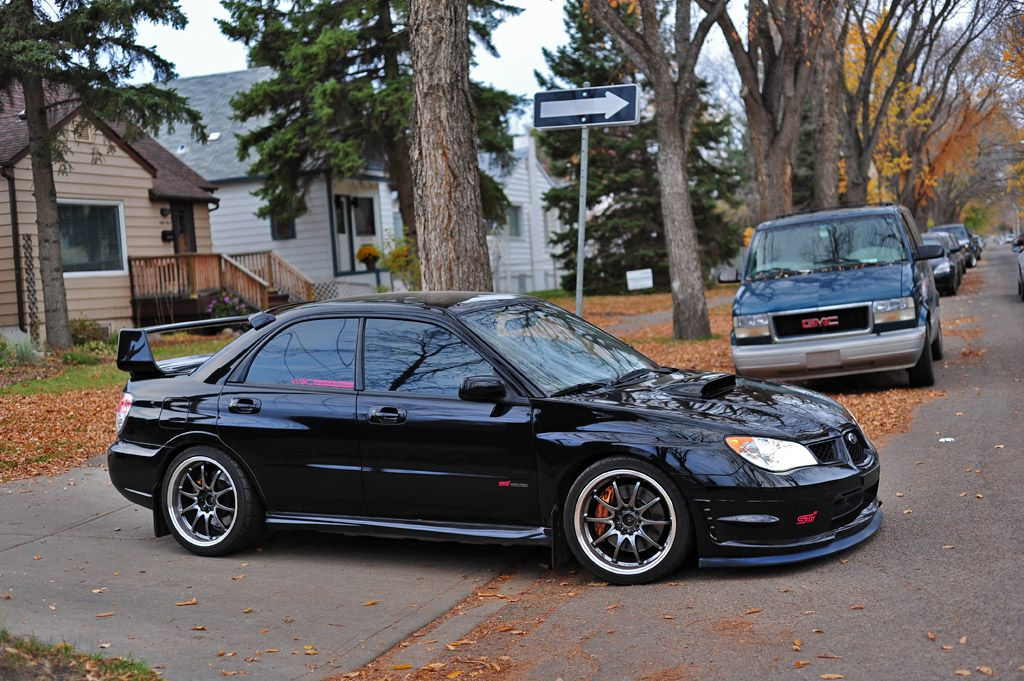 gd 07 sti black from canada d subaru impreza wrx sti. Black Bedroom Furniture Sets. Home Design Ideas