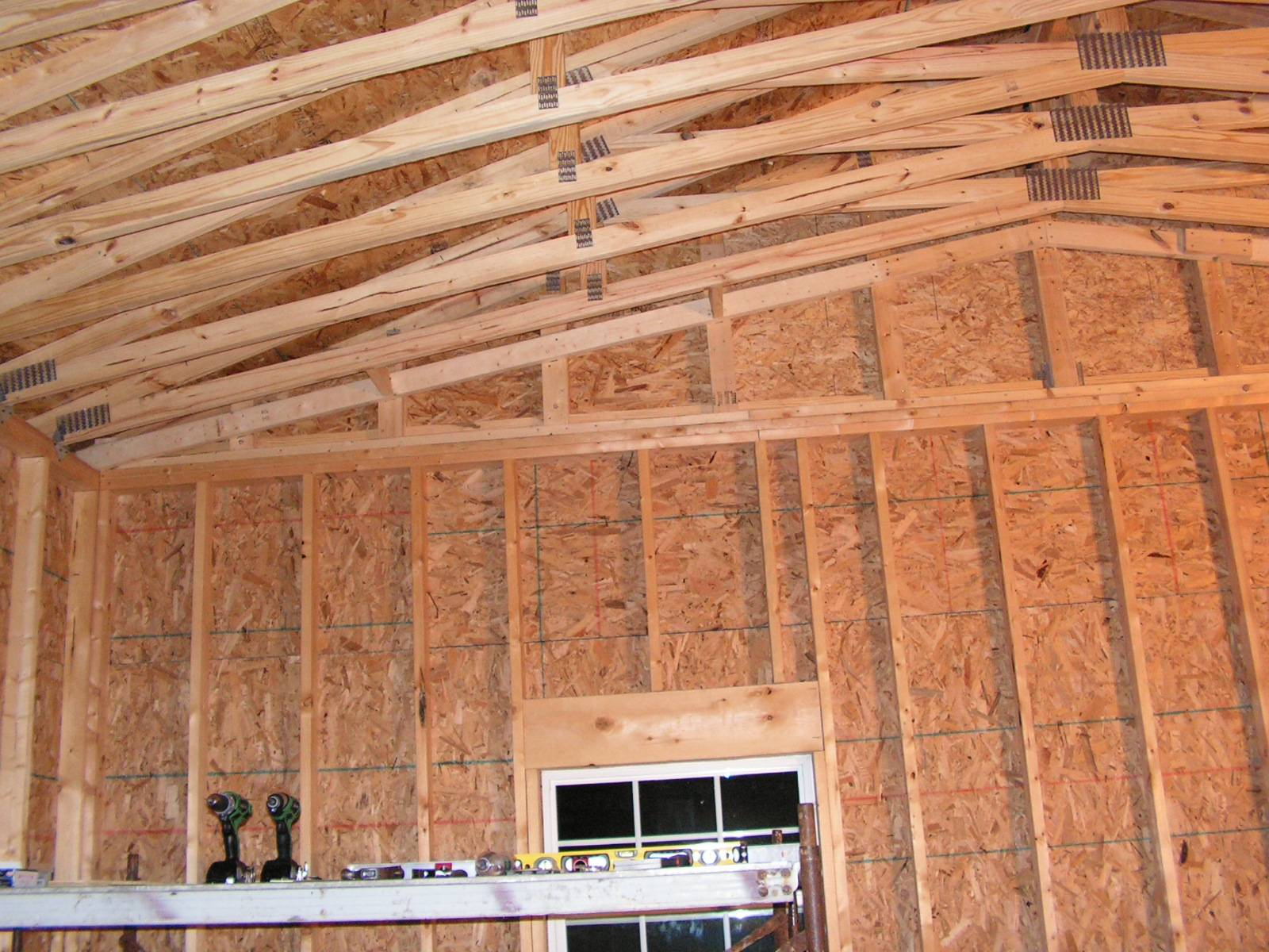 Tying trusses together - The Garage Journal Board