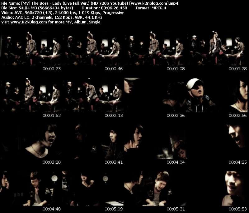 The Boss - Lady (Live Full Ver.) MV Thumbnail